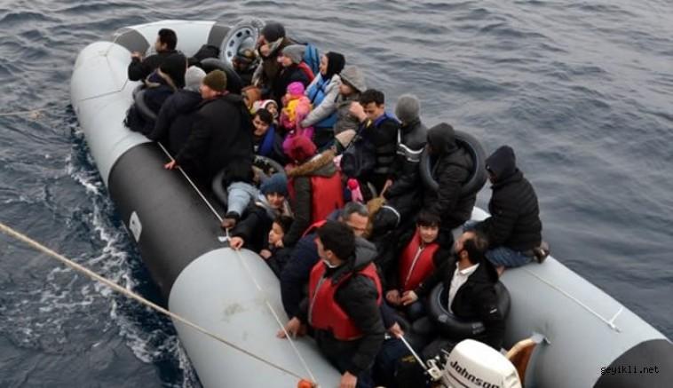 Ayvacık'dan midilli adasına kaçmak isteyen düzensiz göçmenler yakalandı!