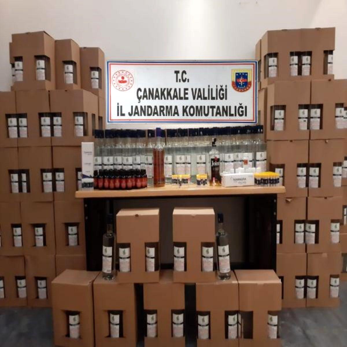 Çanakkale'de 594 litre etil alkol ele geçirildi